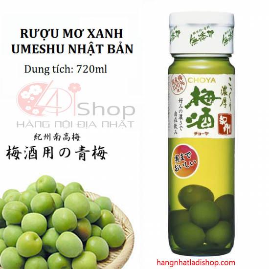 Rượu Mơ xanh Choya 720ml Của Nhật Bản
