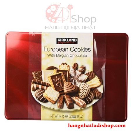 Bánh quy Kirkland Signature European Cookies With Belgian Chocolate