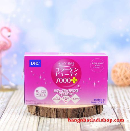 Collagen DHC Beauty 7000 + dạng nước hộp 10 lọ 50ml